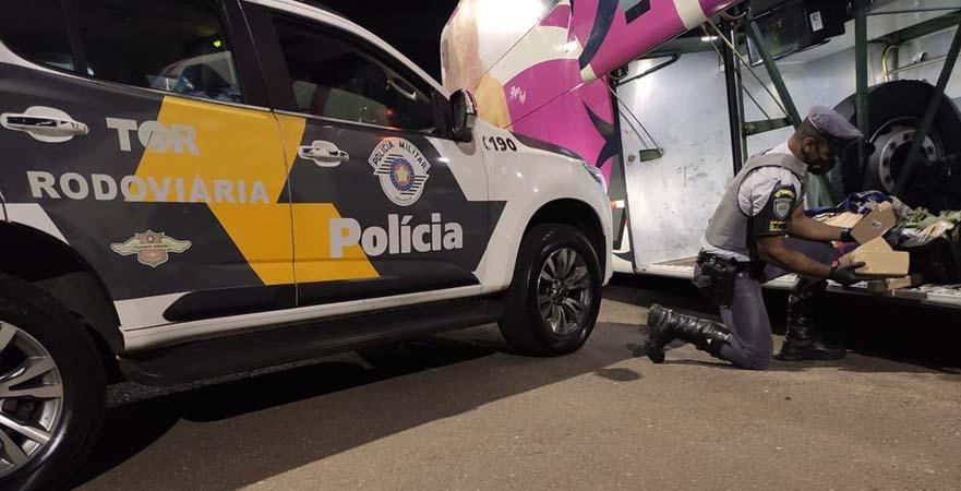 SP: Polícia Militar Rodoviária apreende passageira de ônibus com entorpecentes na Rodovia Raposo Tavares