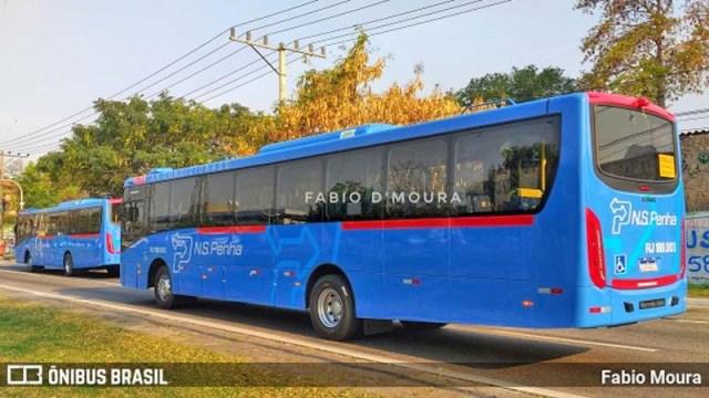 RJ: Novos ônibus da Viação Nossa Senhora da Penha são vistos em Nova Iguaçu já emplacados - revistadoonibus