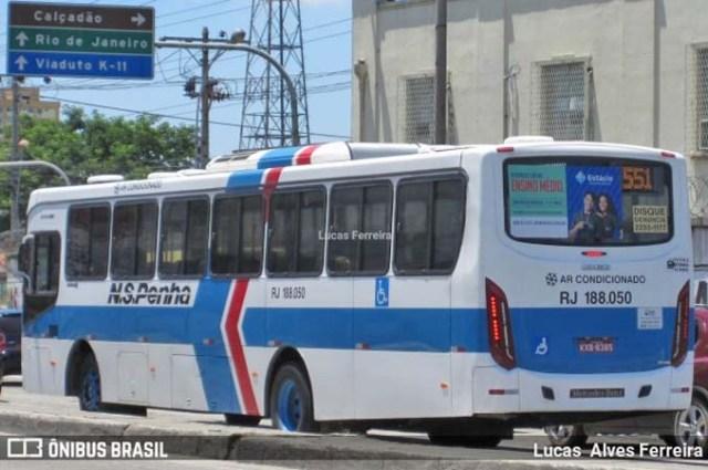 Rio: Ônibus da Viação Nossa Senhora da Penha é atingido por tiro na Avenida Brasil - revistadoonibus