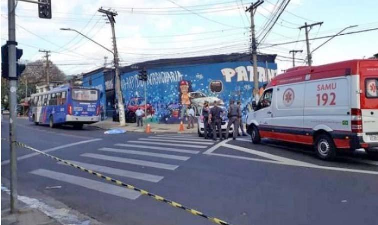 SP: Idosa acaba morrendo atropelada por ônibus nesta tarde em Osasco