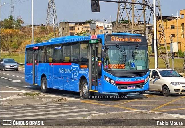 RJ: Novos ônibus da Viação Nossa Senhora da Penha são vistos em Nova Iguaçu já emplacados