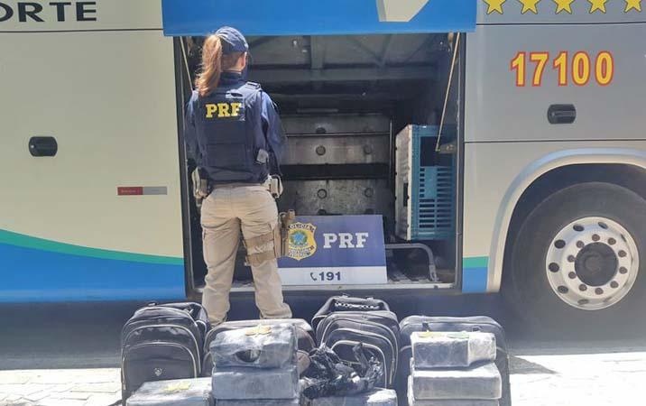 CE: Fiscalização da PRF apreende duas passageiras com entorpecentes em Sobral