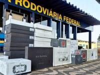 MT: PRF apreende 713 garrafas de vinhos importados ilegalmente em Rondonópolis - revistadoonibus