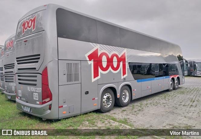 Auto Viação 1001 recebe novos ônibus Busscar DD com 68 poltronas