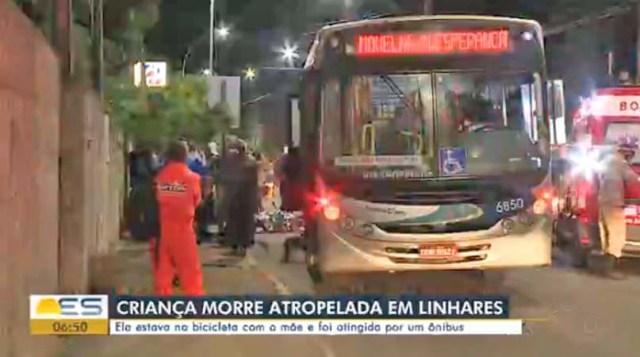 ES: Menina de 2 anos morre atropelada por ônibus em Linhares - revistadoonibus