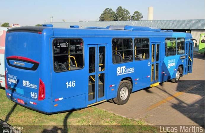 RS: Ônibus da Sogal atrasa viagem após pneu estourar em Canoas
