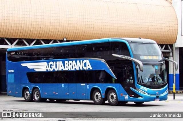 Marcopolo G8 DD da Aguia Branca apresenta goteiras durante viagem ao Rio de Janeiro - revistadoonibus