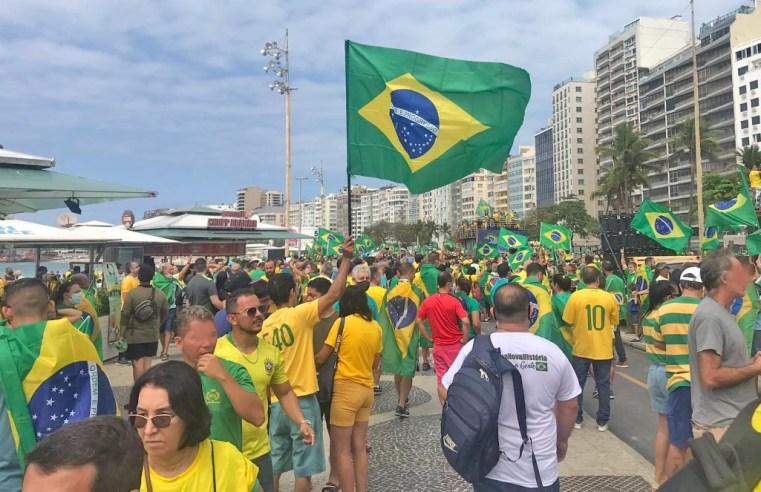 Rio: Manifestantes segue para Copacabana neste 7 de setembro – Vídeo