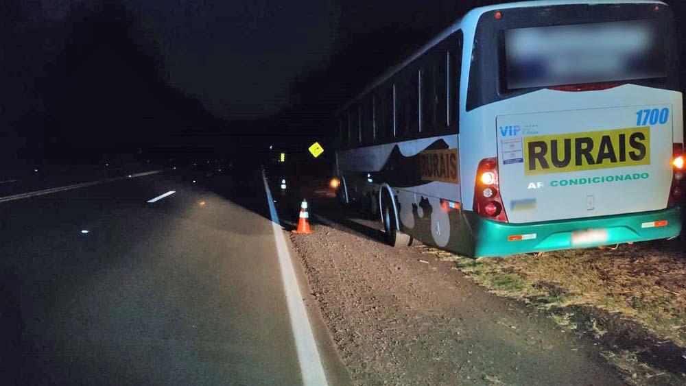 SP: Ônibus acaba atropelando homem na rodovia SP-294, em Junqueirópolis