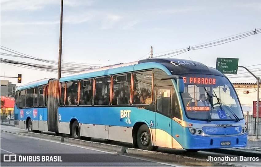 Rio: Ônibus do BRT é apedrejado no corredor Transolímpica