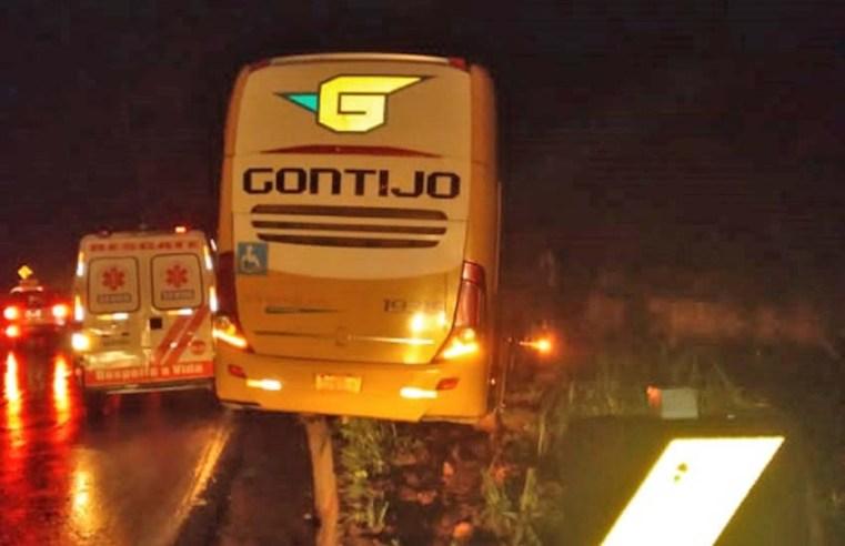 MG: Ônibus da Gontijo se envolve em acidente na cidade de Caeté