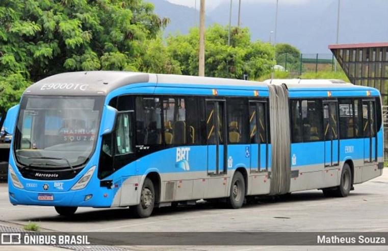 Vídeo: Ônibus do BRT Rio perde a roda na zona oeste da cidade