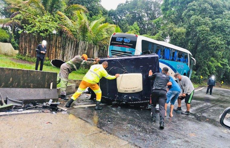 Vídeo: Acidente com seis veículos fecha a Serra das Araras em Piraí, no Sul Fluminense