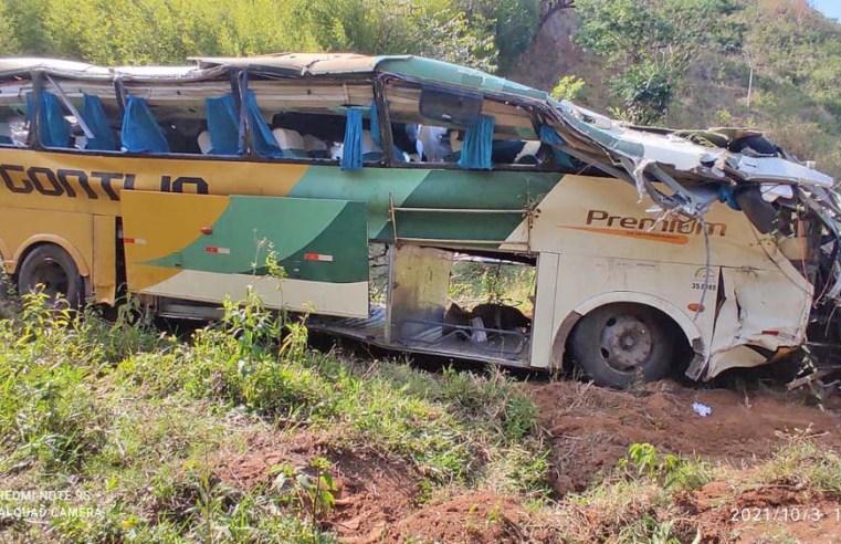 MG: Polícia Civil confirma 4 mortos no acidente com o ônibus da Gontijo em Leopoldina