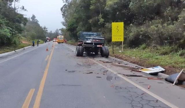 ES: Acidente com ônibus da Gontijo deixa 6 feridos na BR-262, em Conceição do Castelo - revistadoonibus