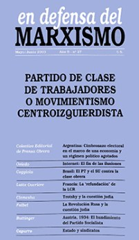 Revista En Defensa del Marxismo 27
