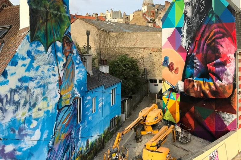 Murais de Kobra, na França, inspirados no pintor Claude Monet