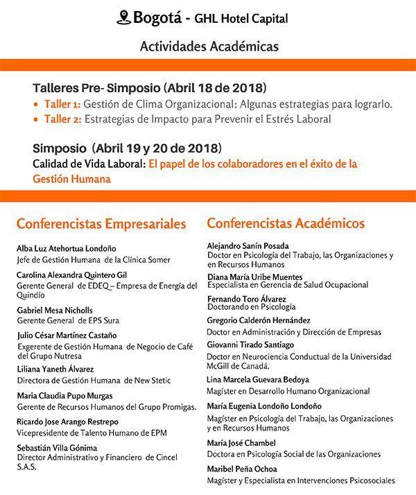 VIII Simposio Internacional - Bogotá 2018
