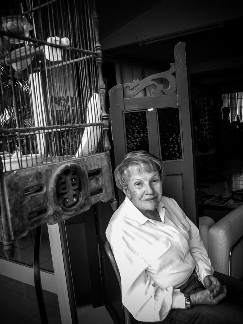 Sofía Ímber en su casa. Foto: Ricardo Gómez Pérez
