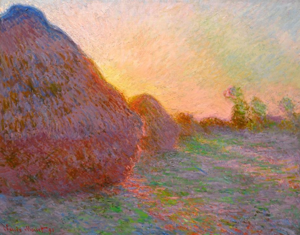 Claude Monet, Meules (1890). Cortesía de Sotheby's.