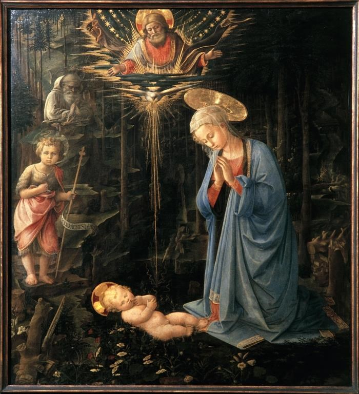 Filippo Lippi. La natividad. Catedral de Spoleto