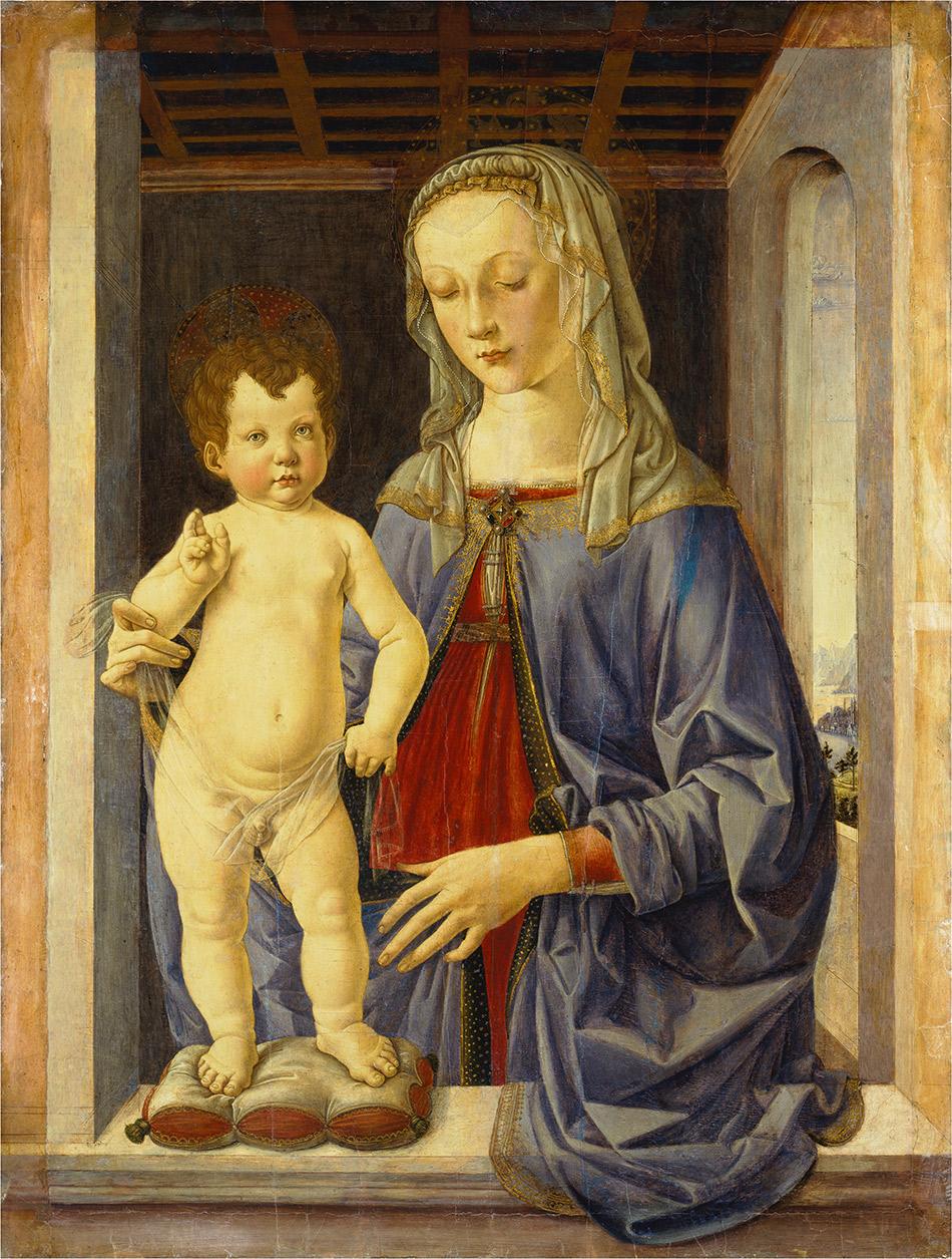Pier Matteo D Amelia, Madonna y el niño.