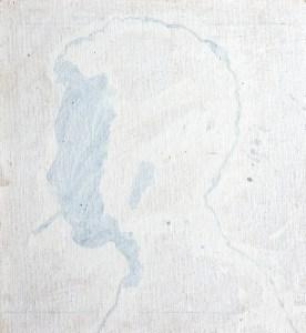 Roberto Obregón. Sin título (perfiles), c. 1995. Acrílico sobre tela 6 elementos de 33 x 36 cm c/u. Archivo Roberto Obregón, Colección C&FE Caracas. Foto: Luis Becerra.