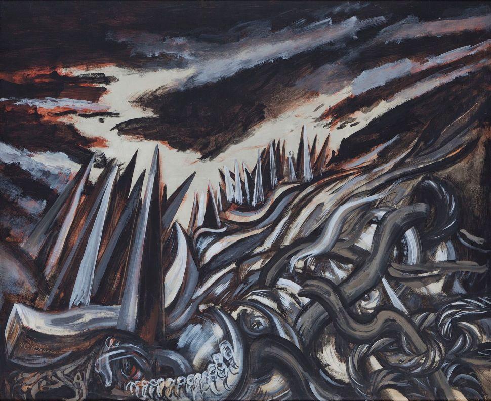 José Clemente Orozco, Paisaje de picos, 1943
