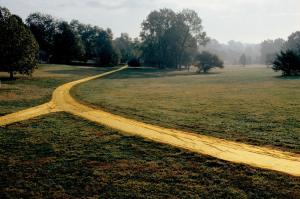 Christo Wrapped Walk Ways (Project for Loose Park, Kansas City, Missouri) Photo: Wolfgang Volz © 1978 Christo