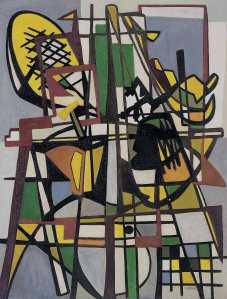 "Lygia Clark Composition (Composição), 1951 Oil on canvas 105 x 81 cm Colección Patricia Phelps de Cisneros © Courtesy of ""The World of Lygia Clark"" Cultural Association X.2017.17"