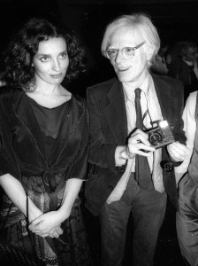 Margaret Trudeau and Andy Warhol Foto Adam Scull. Photolink Newscom