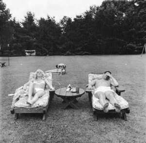 Diane Arbus. Family in their garden on a Sunday in Westchester, New York 1968. © The state of Diane Arbus