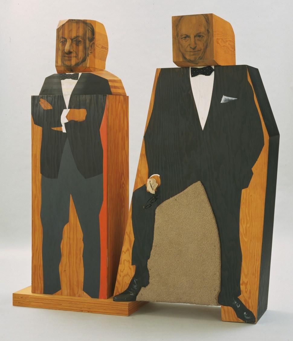 Marisol. Sidney Janis Selling Portrait of Sidney Janis 1967-68