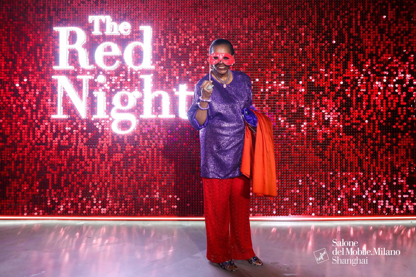 The red night es la fiesta para la prensa Cortesía Salone del Mobile Milano