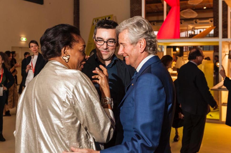 Con Claudio Lutti, presidente de SaloneMilano y Kartell