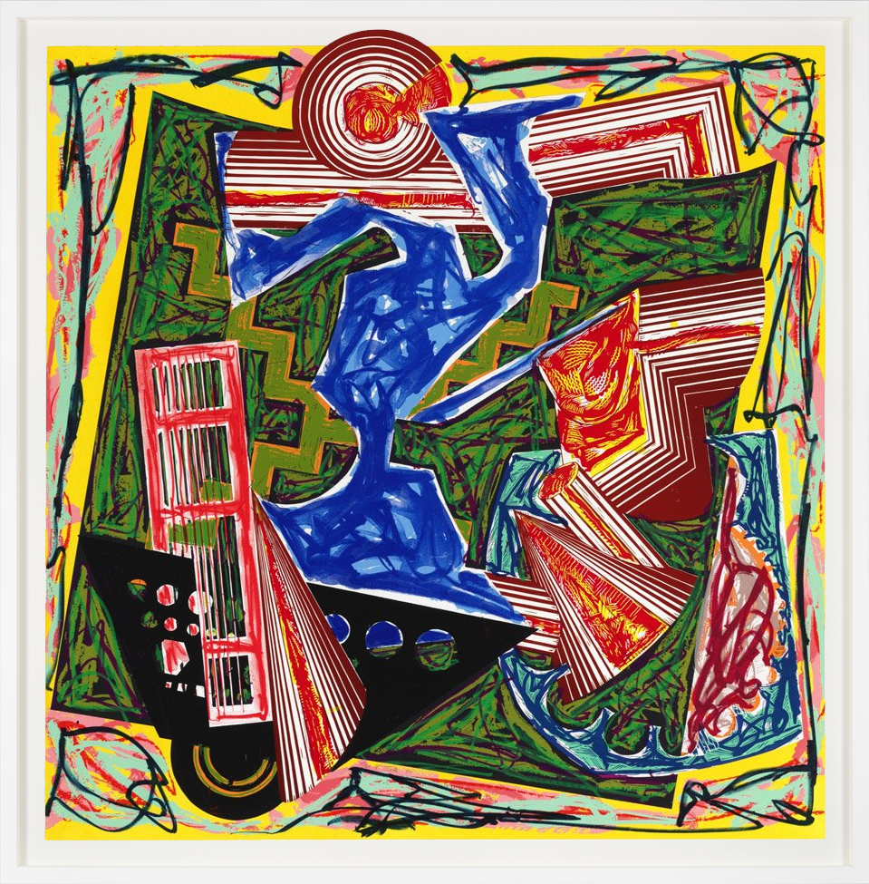 Frank Stella Lithograph-screenprint then water came and quenched the fire 1984