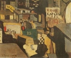 Joaquín Torres García. Escena de una calle de Barcelona. 1917.