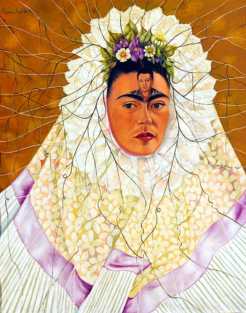 Frida como tehuana o Diego en mis pensamientos, 1943.