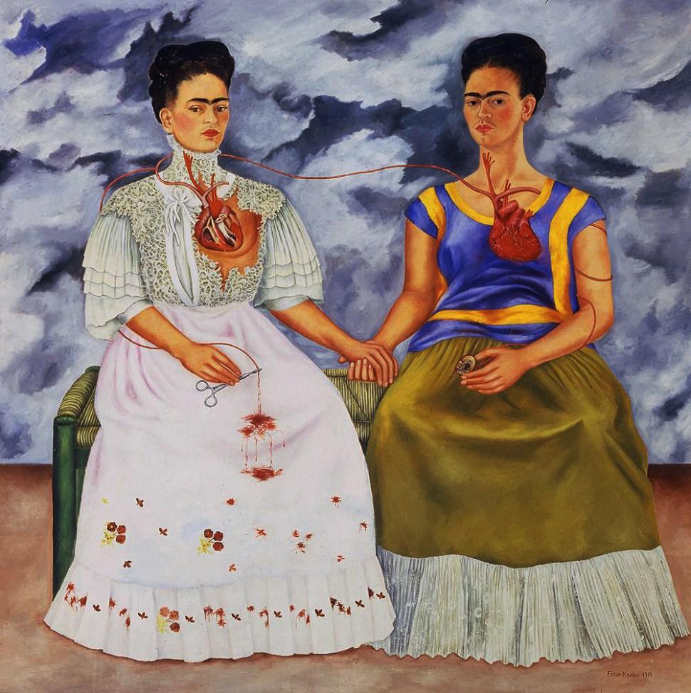 Frida Kahlo. Las dos Fridas,1939. Courtesía del Museo de Arte Moderno de México