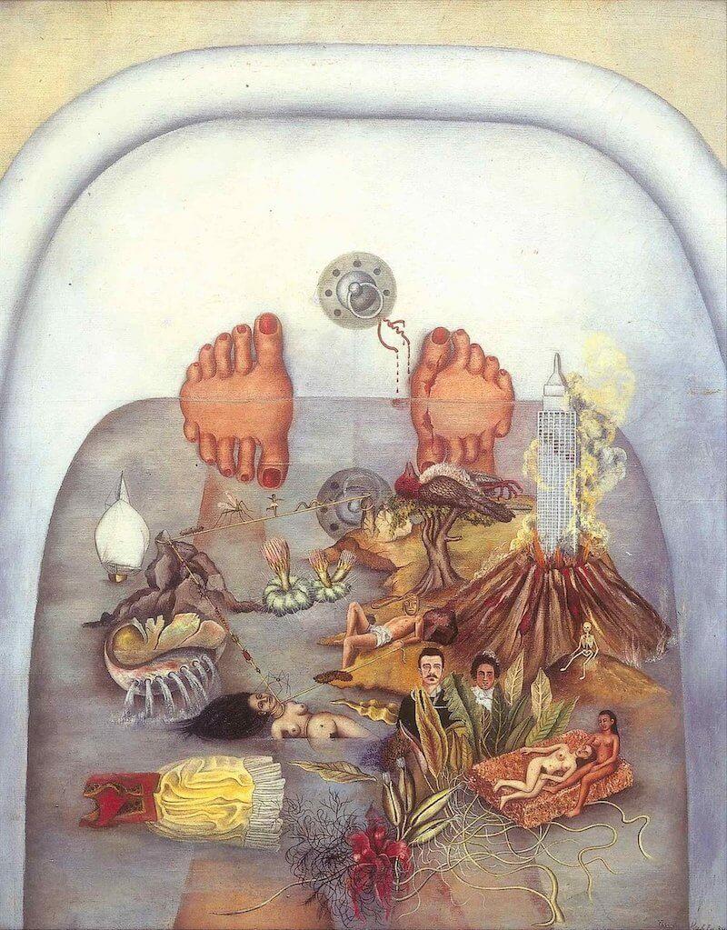 Frida Kahlo. Lo que vi en el agua, 1938.