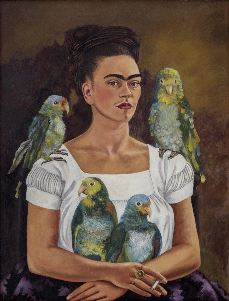 Frida Kahlo. Yo y mis loros. 1941.