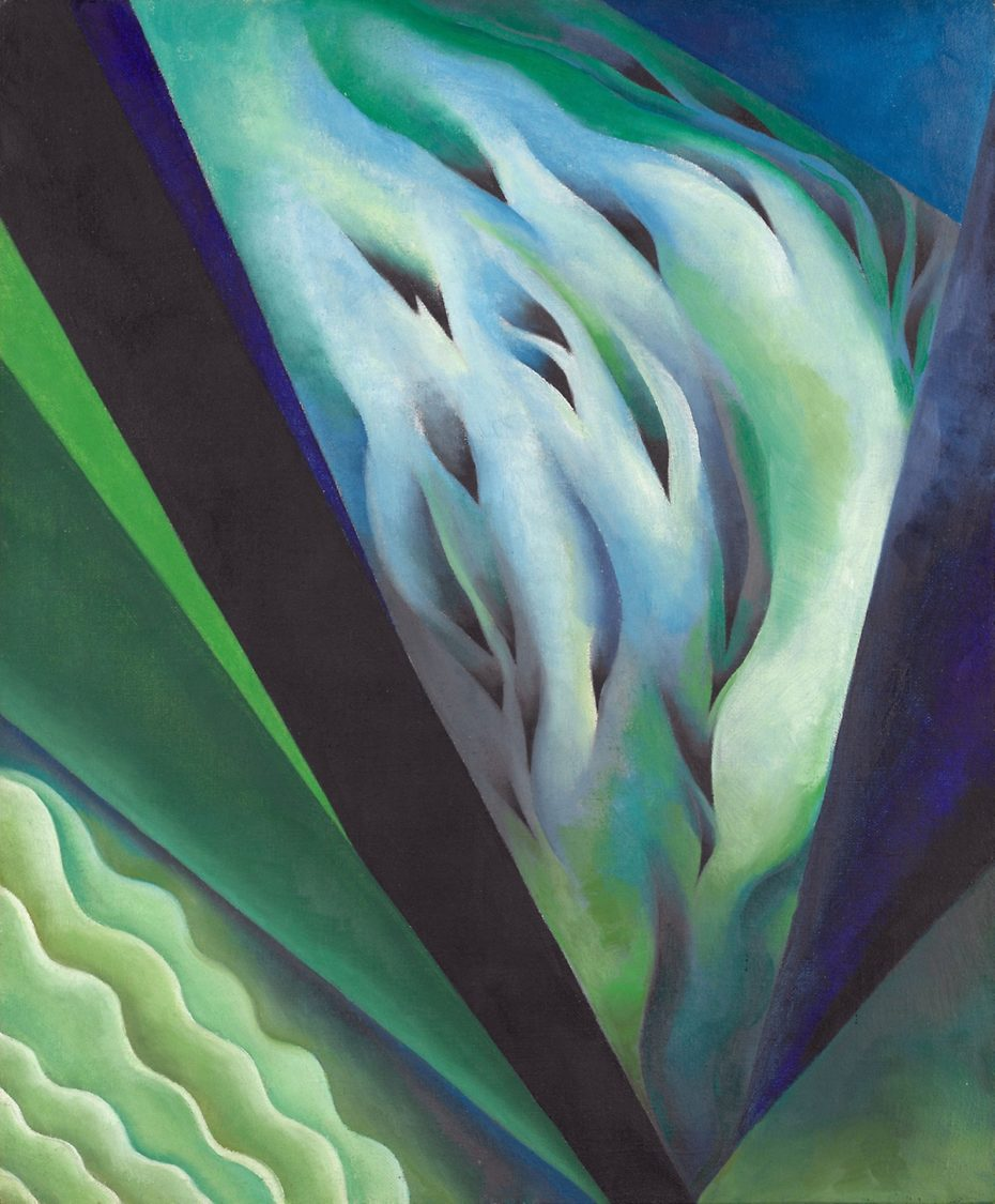 Georgia O'Keeffe Blue and green music 1921