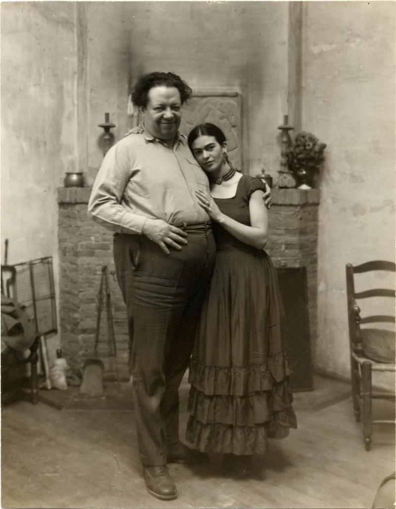 Paul A. Juley. Frida Kahlo y Diego Rivera1931. Archivos del American Art Smithsonian Institution