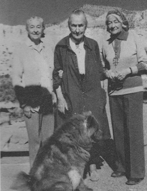 Anita, Georgia y Catherine O'Keeffe
