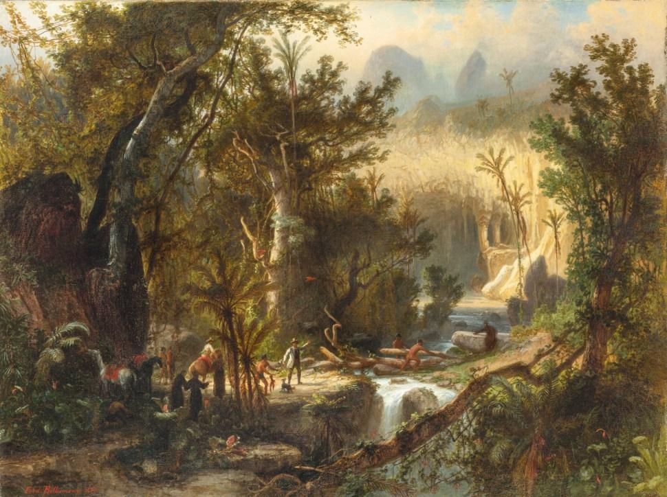 Ferdinand Bellerman. Cueva del Guácharo, 1880
