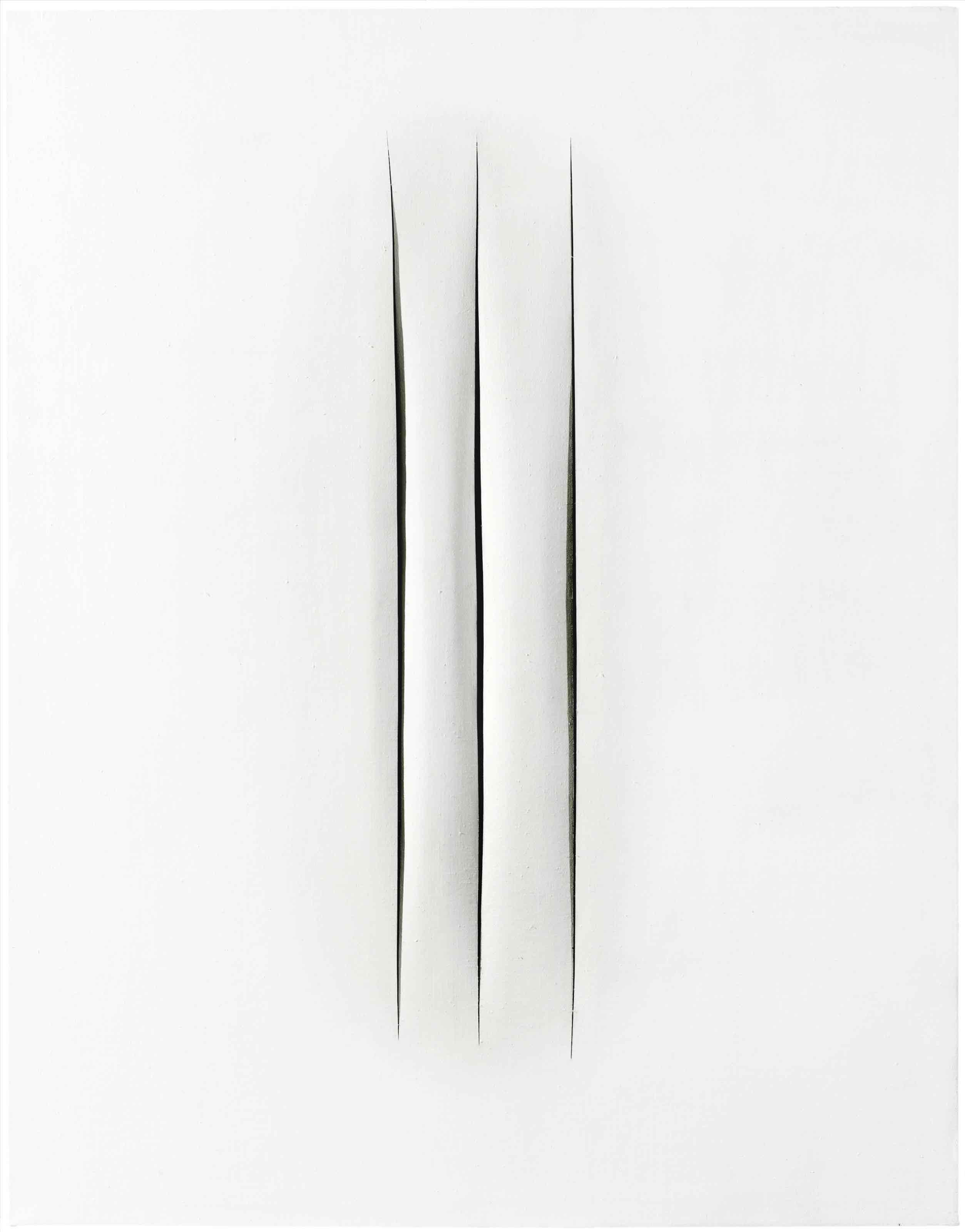 Lucio Fontana. Concepto Espacial- Atesse, 1966