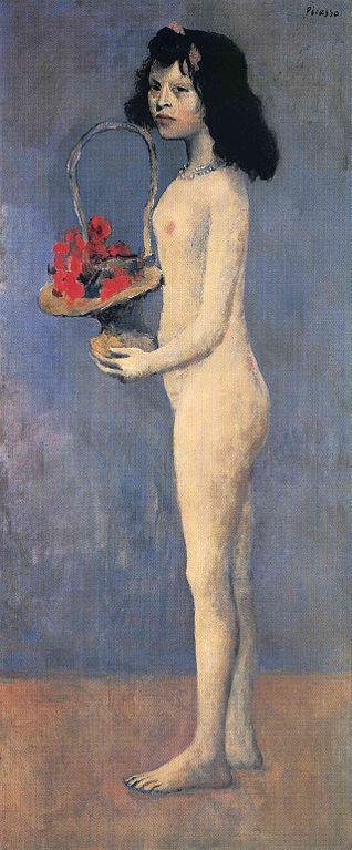 Pablo Picasso, 1905. Jovencita con cesto de flores.