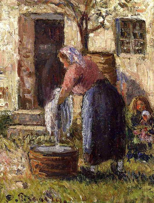 Camille Pissarro. Lavandera 1898