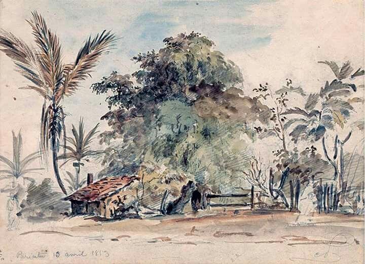 Camille Pissarro. Pariata, 1853.