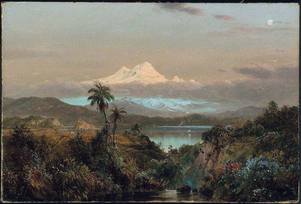 Frederic Edwin Church. Cayambe, 1858. Museum of Fine Arts.